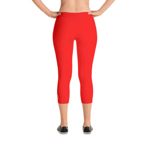 Classic Detroit Octane Logo Red Capri Leggings