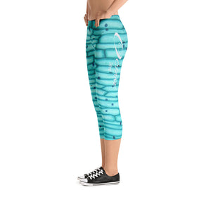Green Detroit Octane Capri Leggings