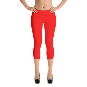 Red Detroit Octane Capri Leggings