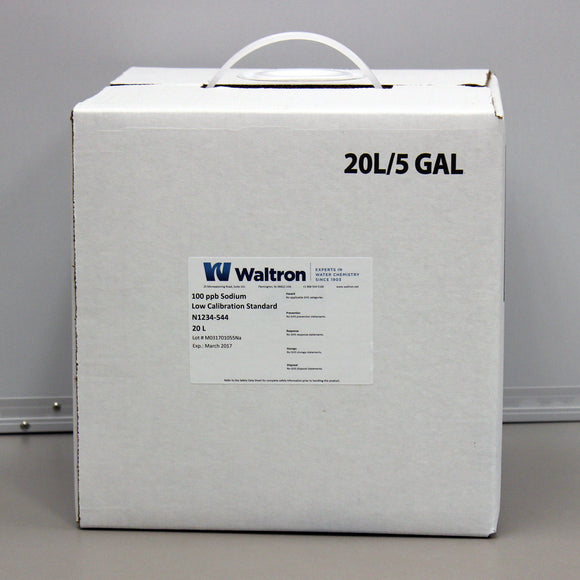 Sodium Low Calibration Standard, 100ppb, 5 Gal/20L Cube