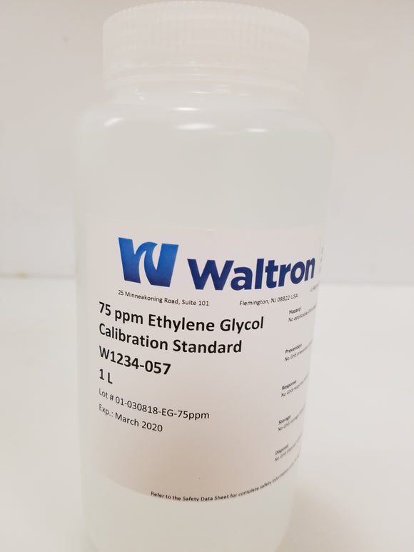 Ethylene Glycol Standard, 75 ppm, 1L