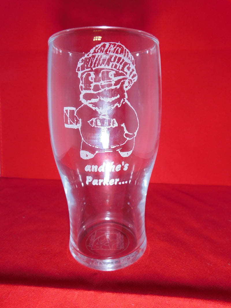 The Battlehammer Pint Glasses