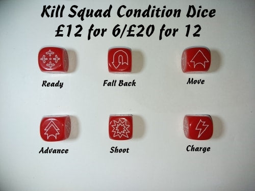 Kill Squad Skirmish Game Command Dice