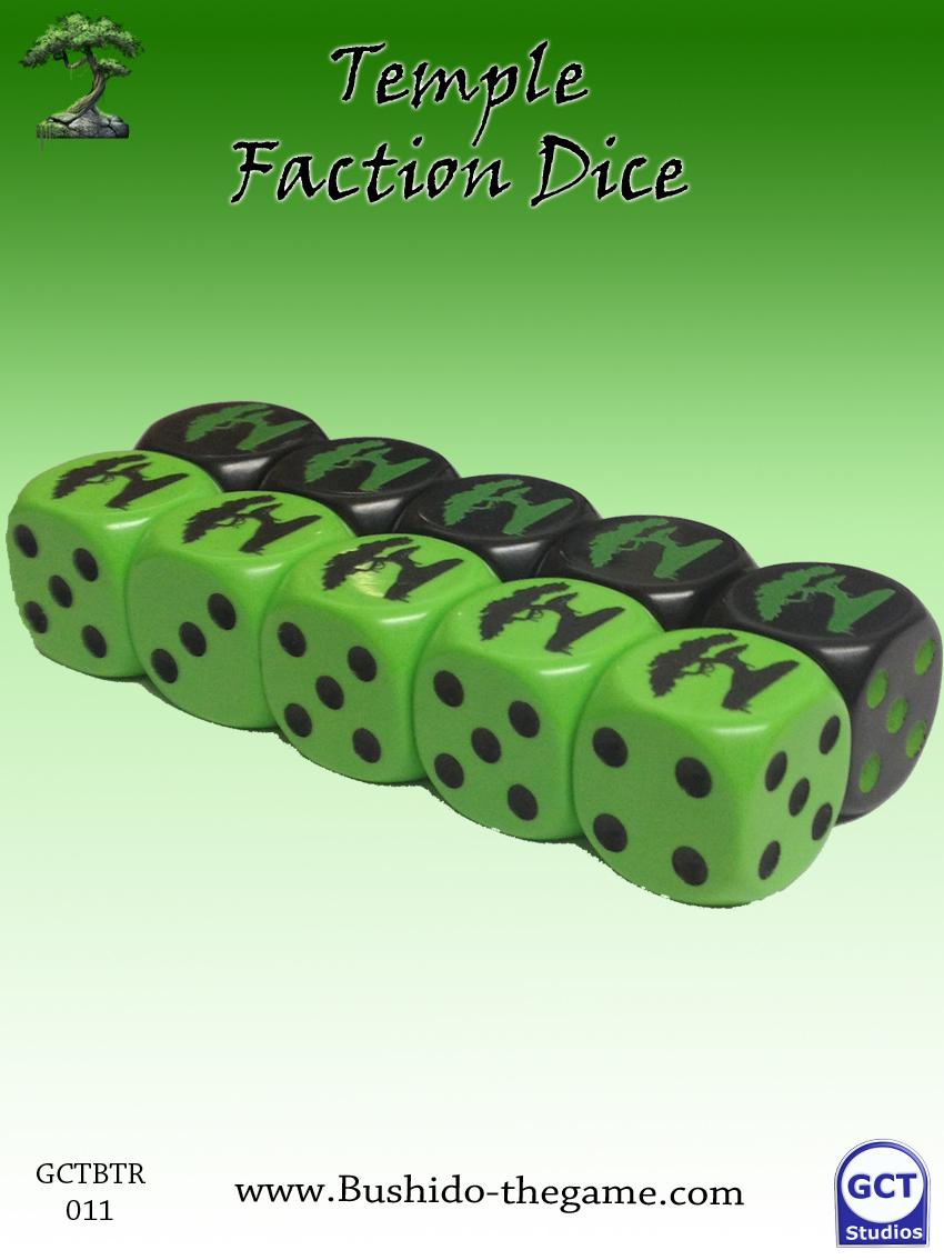 Temple of Rokan Faction Dice