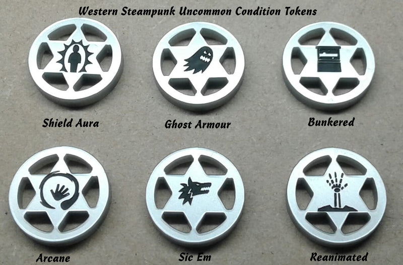 20mm Western Steampunk Tokens