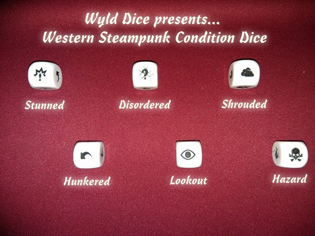 Western Steampunk Condition Dice