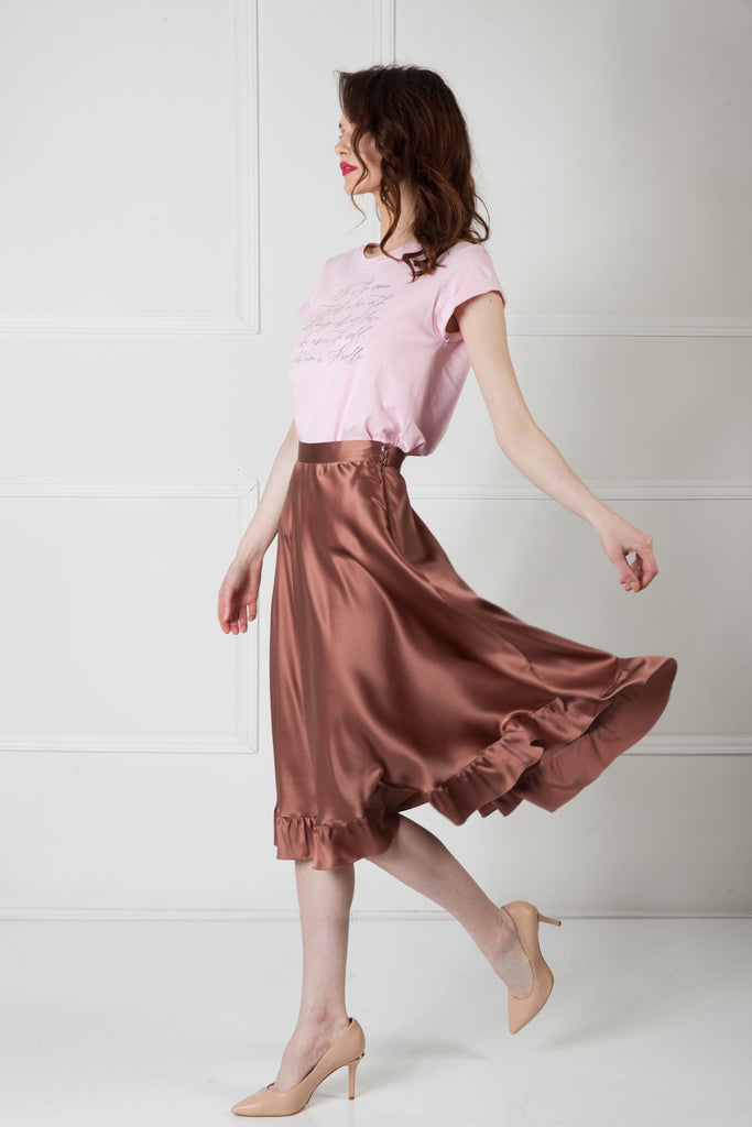 FLIRTY SILK SKIRT Skirt Amoralle