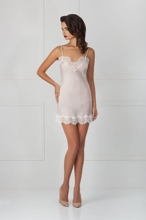 HEARTED MINI SLIP Nightgowns Amoralle S Ivory