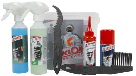 Winter  Discount Cyclon Bike Care Kit containing cleaner, polish, degreaser and lube