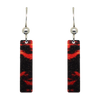 "Lava 2"" Metallic Slender Rectangle Earrings"