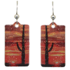 Cactus Sunset Metallic 1.25 inch Rectangular Earrings