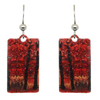 Fall Leaves Metallic 1.25 inch Rectangular Earrings