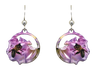 Bee Floral earrings,  Stainless Steel, Sterling Silver Earwires, #2535
