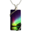 Rainbow Large Rectangle Necklace