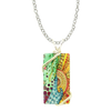"Sunny Day Rectangle Necklace, 18"" Stainless Steel Chain, d'ears made in the USA"