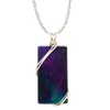 "Fire & Ice Necklace, 1.5"" pendant with silver-plated wiring"