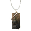 "Armour/Snakeskin Necklace, 1.5"" pendant with silver-plated wiring"
