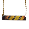 "Safety 2"" Metallic Bar Necklace"
