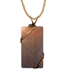 "Bronze Blinds Necklace, 1.5"" pendant with bronze finish wiring"