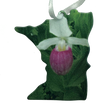 Lady Slipper MN  2 1/2 or  3 1/2 inch ornament