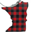 MN Lumberjack plaid Uff da 3 1/2 inch ornament