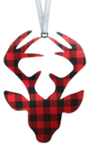 Lumberjack Plaid Buck 4 inch ornament