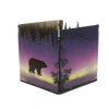 Bear Treeline Morning Light Tealight Holder 2.5""
