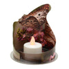 Nature Nectar Butterfly Wrapped Candle Holder 3""