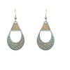 d'ears wood / metal basket earrings, made in the USA, sterling silver earwires