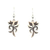 d'ears wood / metal tulip earrings, made in the USA, sterling silver earwires