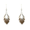 d'ears wood / metal geometric earrings, made in the USA, sterling silver earwires