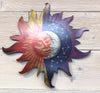 Sun  Moon metal wall art by d'ears, 10 inch, made in the USA, 18 gauge steel
