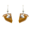 Pumpkin Pie Earrings, sterling silver earwires