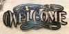 Welcome, wall art by d'ears, made in the USA, 18 gauge steel
