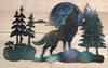 Wolf Moon metal wall art by d'ears, 22 inch, made in the USA, 18 gauge steel