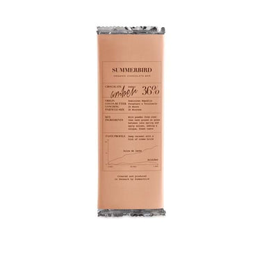 SUMMERBIRD ORGANIC-CHOCOLATE BAR AMBER 36%