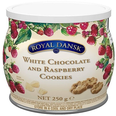 Royal Dansk-  WHITE CHOCOLATE & RASBERRY COOKIES