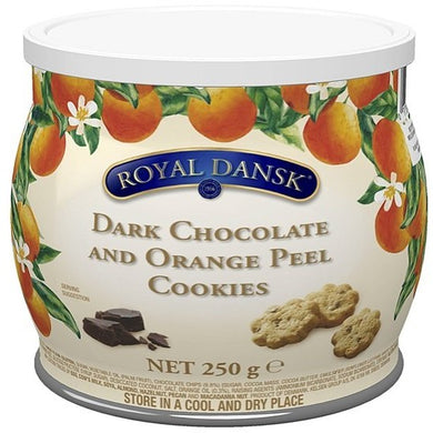 Royal Dansk-  DARK CHOCOLATE AND & ORANGE PEEL COOKIES