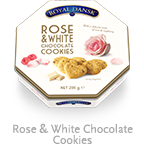 Royal Dansk-ROSE & WHITE CHOCOLATE COOKIES 200g  ·