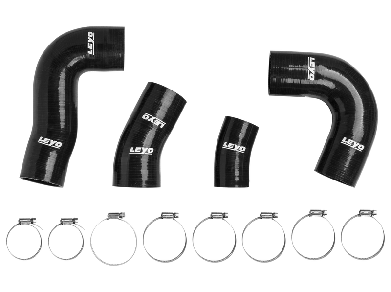 Leyo Motorsport Silicone Boost Hoses - Set of Four Piece