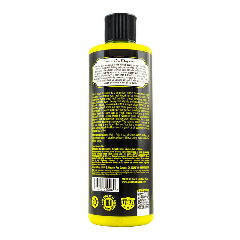 CHEMICAL GUYS CITRUS WASH & GLOSS CONCENTRATED ULTRA PREMIUM HYPER WASH & GLOSS