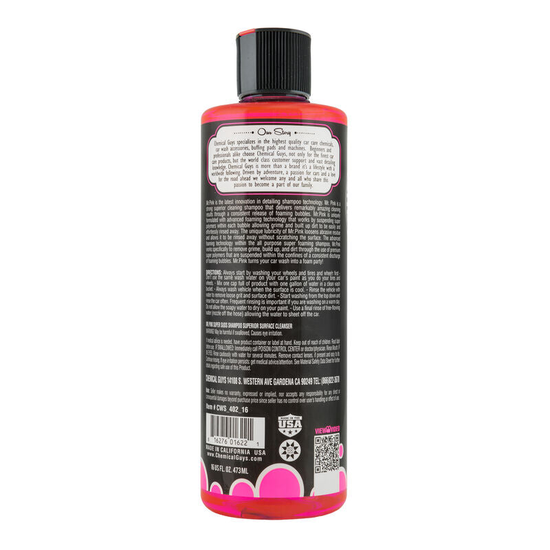 CHEMICAL GUYS MR.PINK SUPER SUDS SUPERIOR SURFACE CLEANSER CAR WASH SHAMPOO