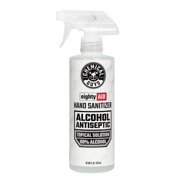 Chemical Guys EightyAID Hand Sanitizer Alcohol Antiseptic 80% Topical Solution