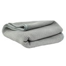 WAFFLE WEAVE GRAY MATTER MICROFIBER DRYING TOWEL