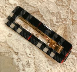 Plaid Hair Clip ~ Lydia ~ Available in Multiple Colors
