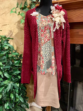Cardigan ~ Carolyn ~ Available in Black and Burgundy