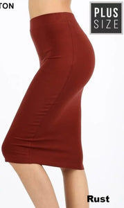 Plus Pencil Skirt ~ Leah ~ Available in Multiple Colors