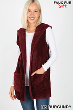 Plus Hooded Vest ~ Harriet ~ Available in Black, Burgundy and Rust