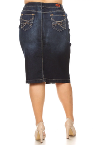Plus Denim Skirt ~ Judy