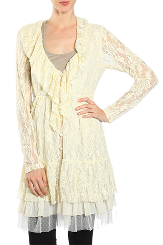 Plus Lace Cardigan ~ Louisa
